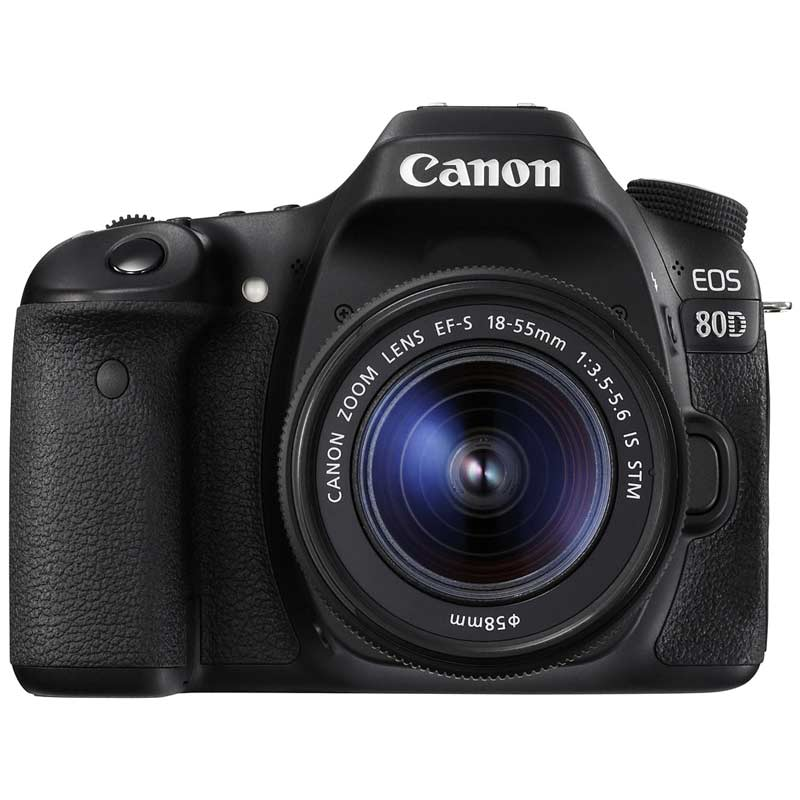 Canon 18 MP DSLR Camera Body with 18 - 55 mm Lens (EOS 80D, Black)_1