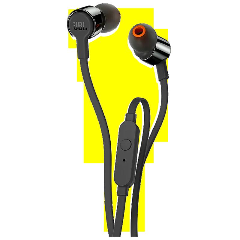 JBL In-Ear Wired Earphones with Mic (T210, Black)_1