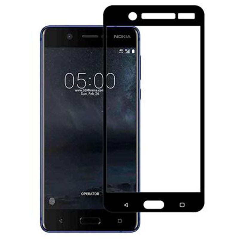 Stuffcool Mighty 2.5D Tempered Glass Screen Protector for Nokia 5 (MGGP25DNK5, Black)_1
