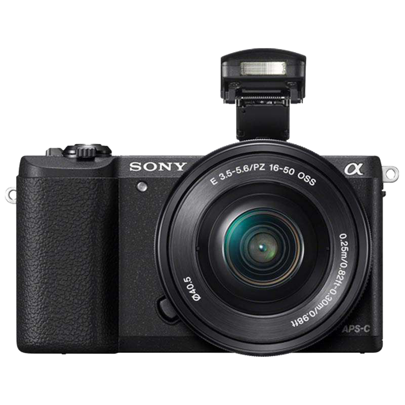 Sony 24.3 MP Mirrorless Camera Body with 16 - 50 mm Lens (ILCE-5100L, Black)_1