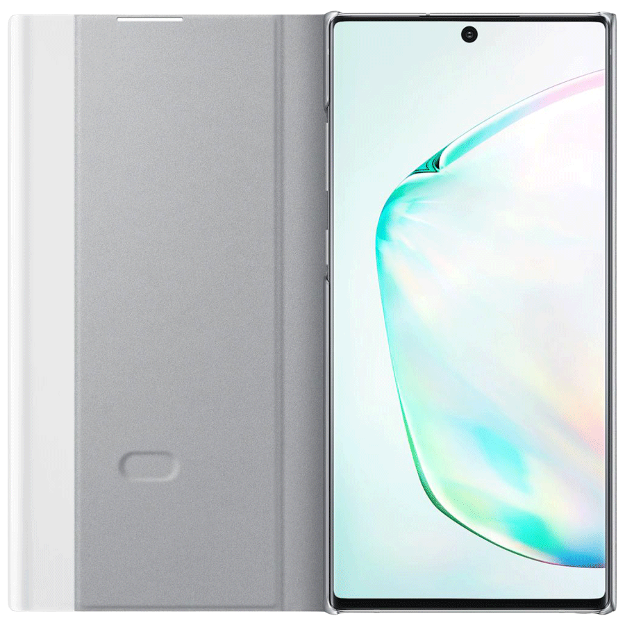Buy Samsung Galaxy Note 10 Plus Clear View Flip Case Cover (EF-ZN975CSEGIN,  Silver) Online – Croma