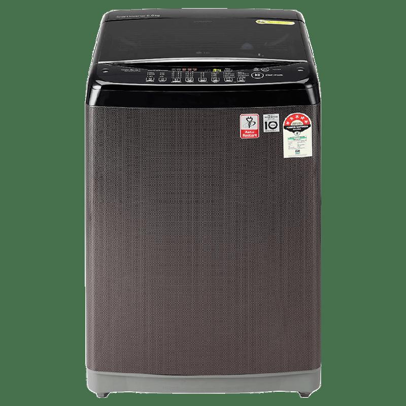 LG 8 Kg 5 Star Fully Automatic Top Loading Washing Machine (ABKQEIL, Black Knight)_1