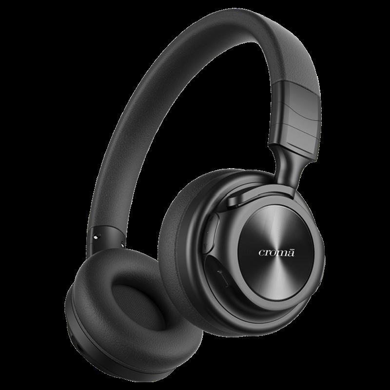 Croma Bluetooth Headphone (CREA4217, Black)_1