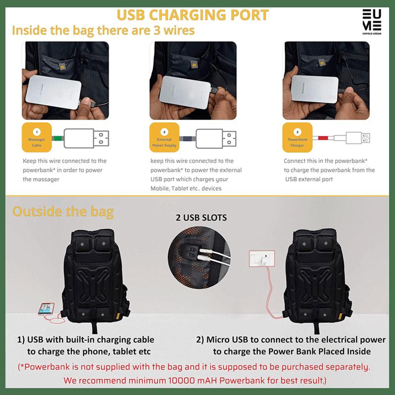 EUME Wave 26 Litres Massager Backpack for Laptop (Grey)_4