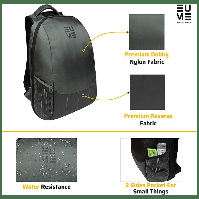 EUME Wave 26 Litres Massager Backpack for Laptop (Grey)_3