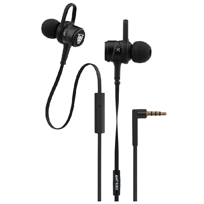 Ant Audio In-Ear Wired Earphones with Mic (W56, Black)_1