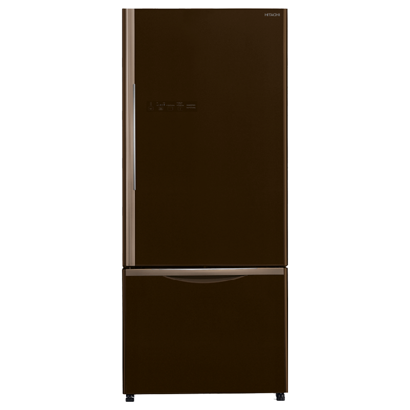 Hitachi 525 Litres 3 Star Frost Free Double Door Refrigerator (Bottom Mount, LED Light, R-B570PND7(GGR), Glass Brown)_1