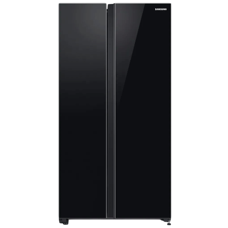 Samsung 700 Litres Frost-Free Inverter Side-by-Side Door Refrigerator (All-around Cooling, RS72R50112C/TL, Black Glass)_1