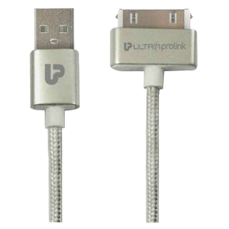 Ultraprolink 150 cm USB (Type-A) to 30 Pin Dock Cable (UL0042-0150, Silver)_1