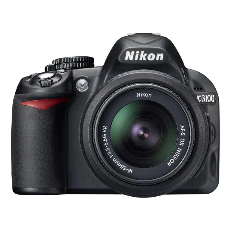 Nikon 14.2 MP DSLR Camera Body with 18 - 55 mm Lens (D3100, Black)_1