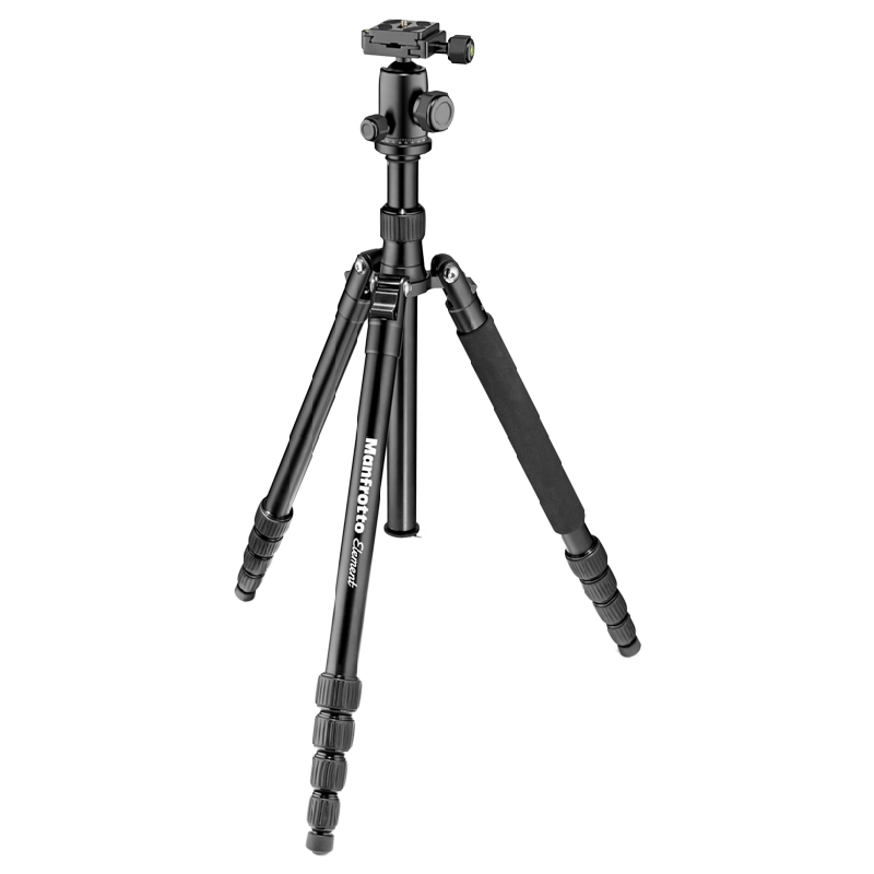 Manfrotto 164 cm Height Traveller Tripod Big with Ball Head (MKELEB5BK-BH, Black)_1