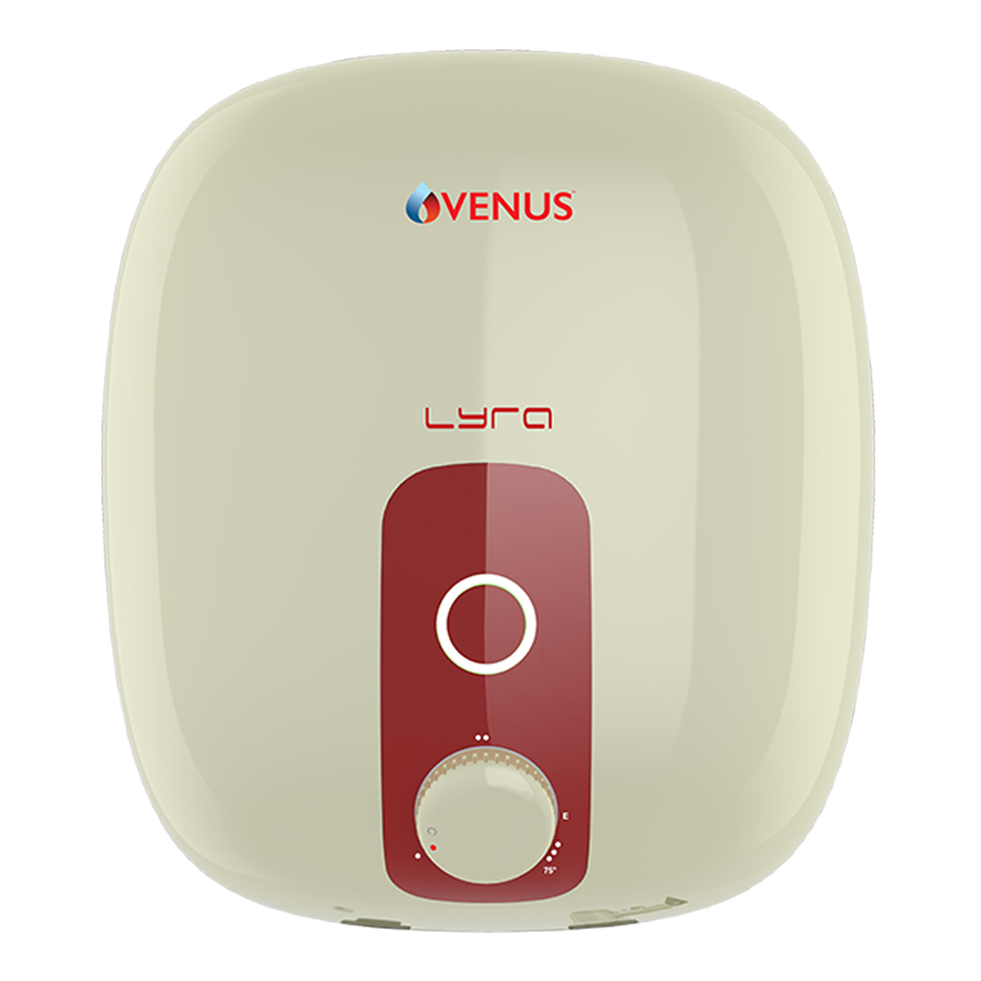 Venus Lyra 10 Litres 5 Star Storage Water Geyser (2000 Watts, 10R, Ivory/Red)_1