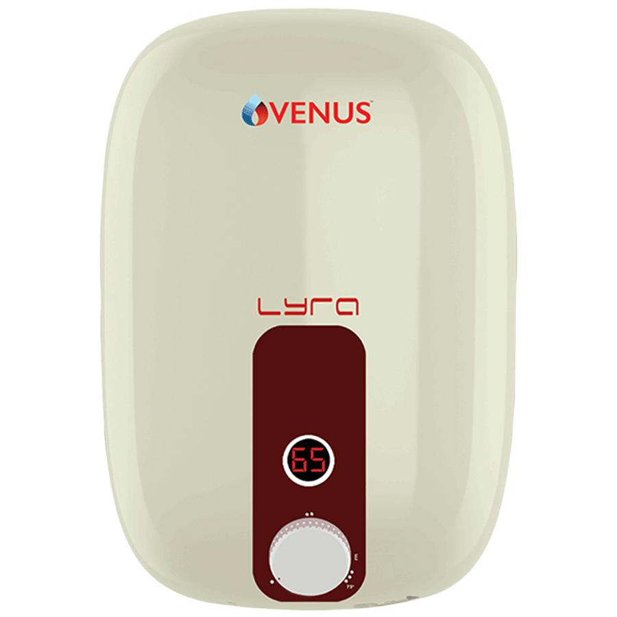 Venus Lyra Smart 15 Litres 5 Star Storage Water Geyser (2000 Watts, 15RX, Ivory/Red)_1