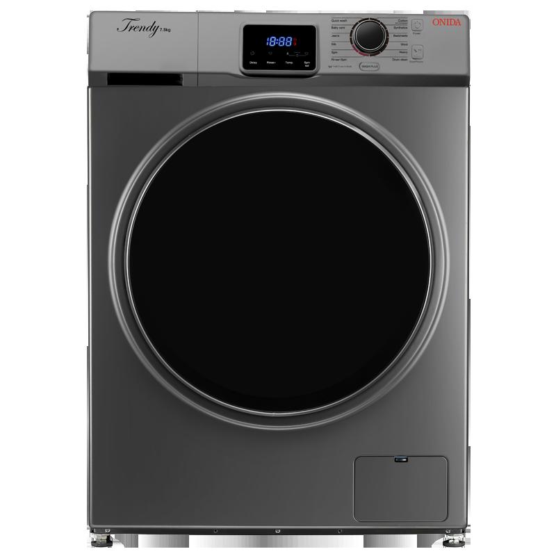 Onida 7.5 kg Fully Automatic Front Loading Washing Machine (F75TSG, Grey)_1