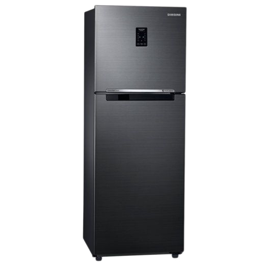 Samsung 253 L 3 Star Inverter Frost Free Double Door Inverter Refrigerator (RT28M3743BS/NL, Black, Convertible)_1