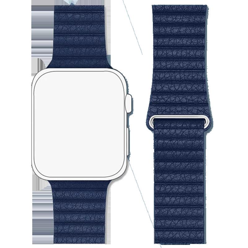 Robobull 38/40 mm Leather Loop Apple Watch Strap (3770000073, Blue)_1
