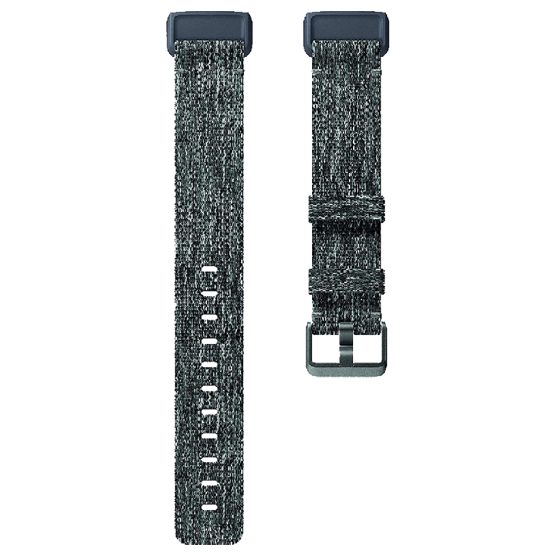 Fitbit Charge 3 Woven Large Band (FB168WBGYL, Charcoal)_1