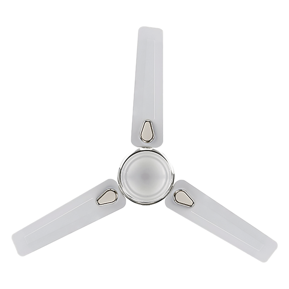 Hindware Stunner 120 cm Sweep 3 Blades Ceiling Fan (With Copper Motor, CF-STUNNER-48-WHIT, White Metallic Silver)_1