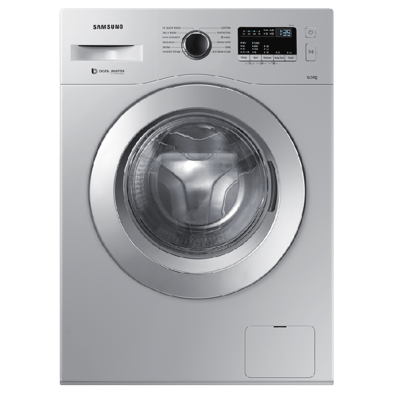 Samsung 6.5 kg Fully Automatic Front Load Washing Machine (WW65R20GKSS/TL, Silver)_1