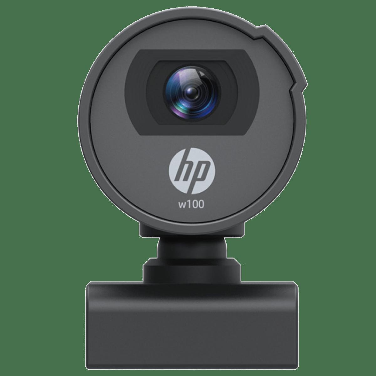 HP w100 Webcam For Desktop (480p Resolution, 1W4W4AA, Black)_1