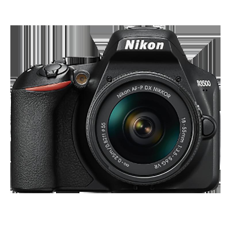 Nikon 24.2 MP DSLR Camera Body with 18 - 55 mm & 70 - 300 mm Lens (D3500, Black)_1