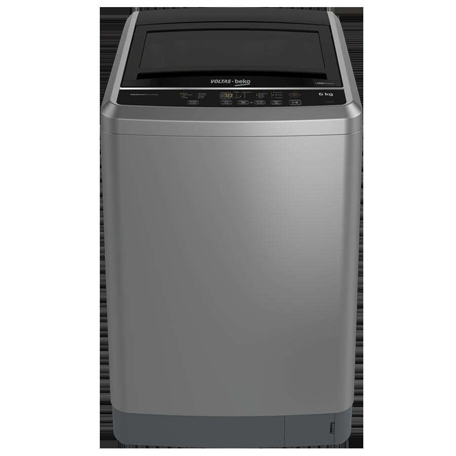 Voltas Beko 6 kg Fully Automatic Top Loading Washing Machine (WTL60G, Grey)_1