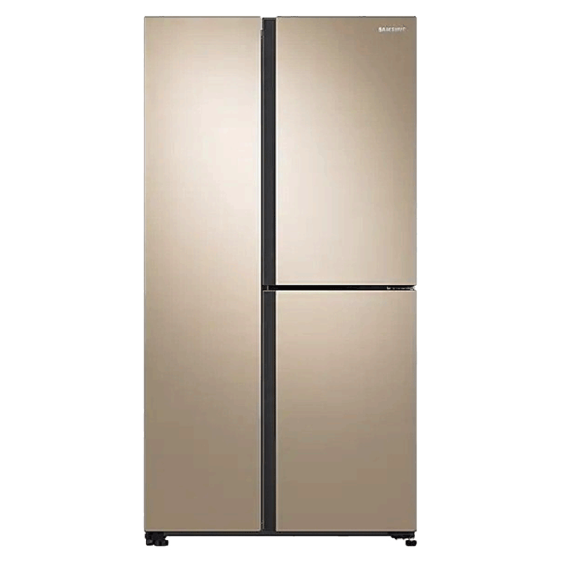 Samsung 689 Litres Frost Free Inverter Side-by-Side Door Refrigerator (All-around Cooling, RS73R5561F8, Gentle Gold)_1