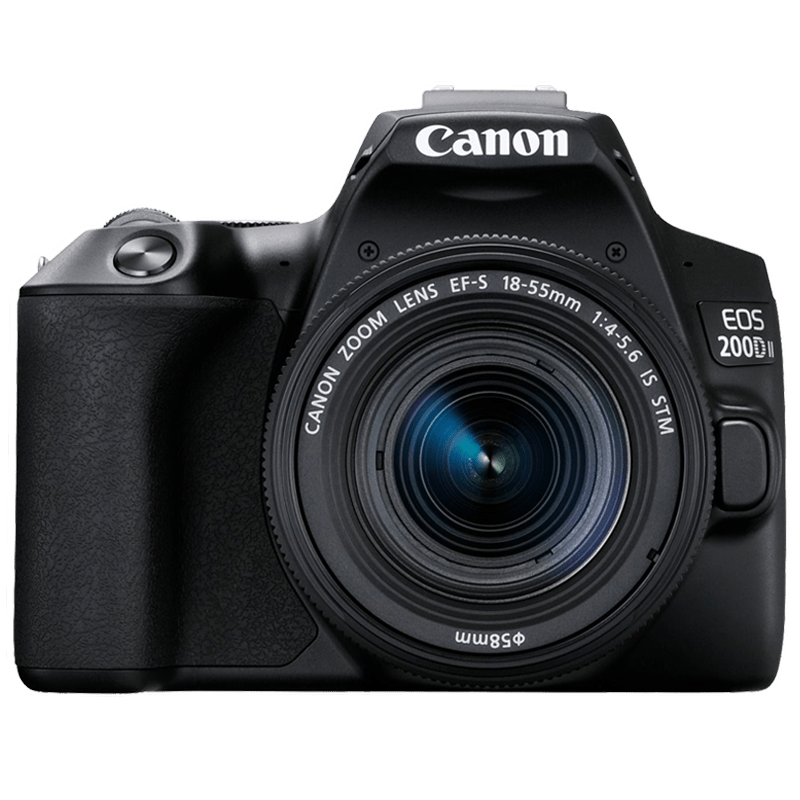 Canon 24.1 MP DSLR Camera Body with 18 - 55 mm Lens (EOS 200D II, Black)_1