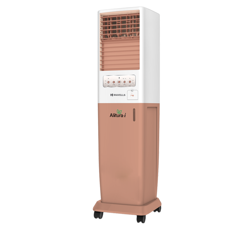 Havells 50 Litres Tower Air Cooler (Fully Collapsable Louvers, Alitura-i 50, White)_1