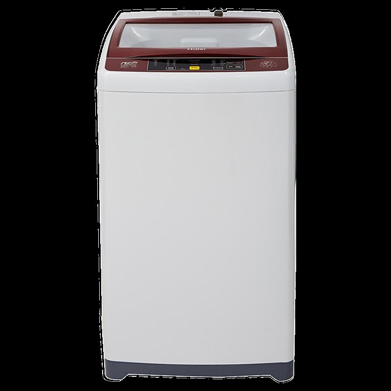 Haier 6.5 kg Fully Automatic Top Loading Washing Machine (HWM60-708NZP, Light Grey)_1