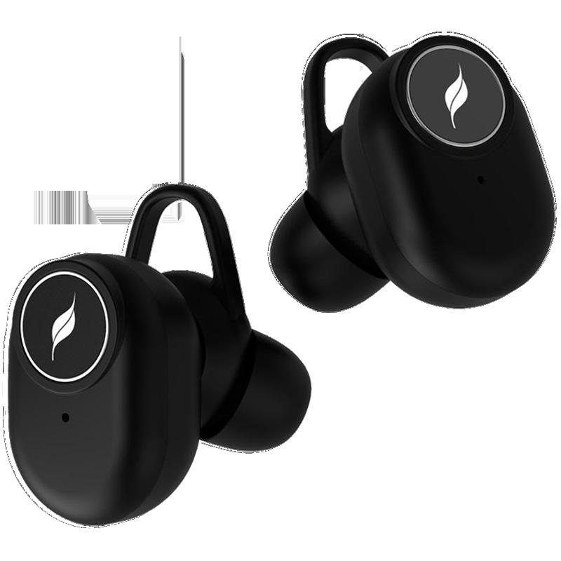 Leaf True Wireless Earphones (Pods, Black)