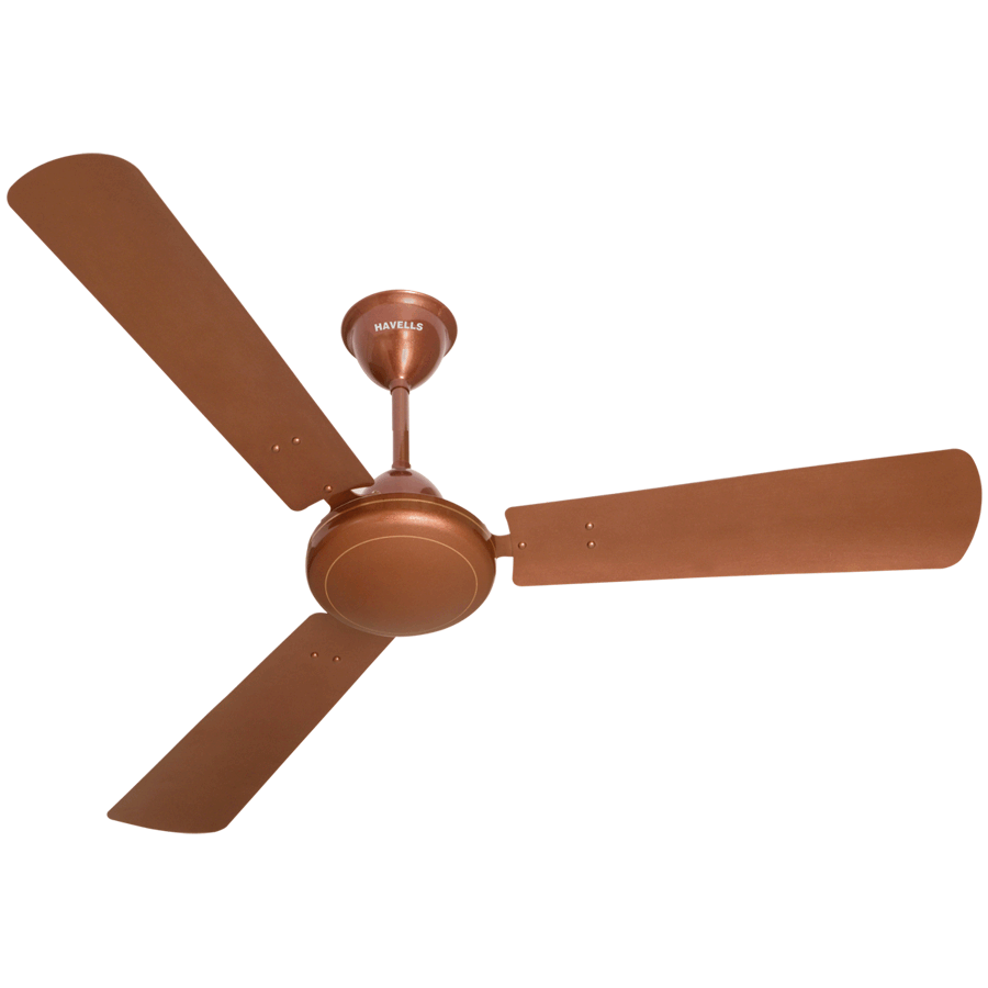 Havelles Metallic Ceiling Fan (Blade Accessories, SS 390, Sparkle Brown)_1