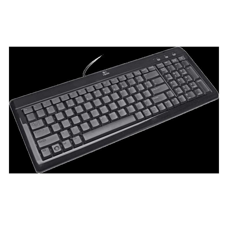 Logitech Ultra Flat Keyboard (Black)_1