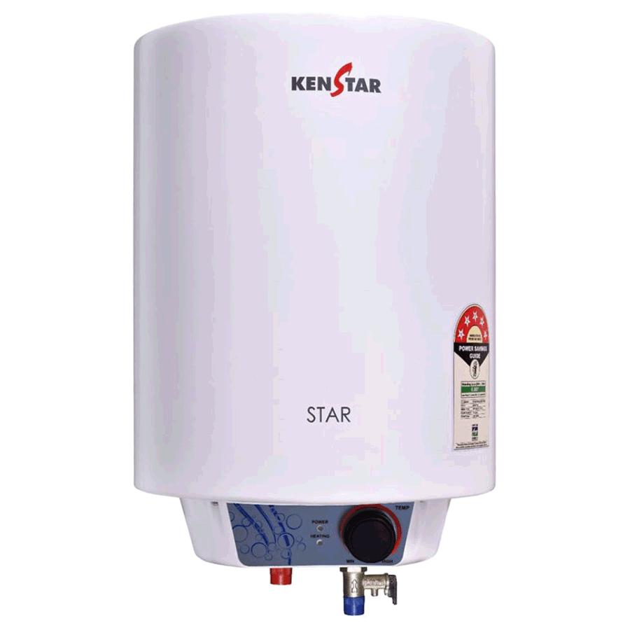 Kenstar Star 10 Litres 3 Star Storage Water Geyser (2000 Watts, KGSSTA10WM8VGN-DSE, White/Grey)_1