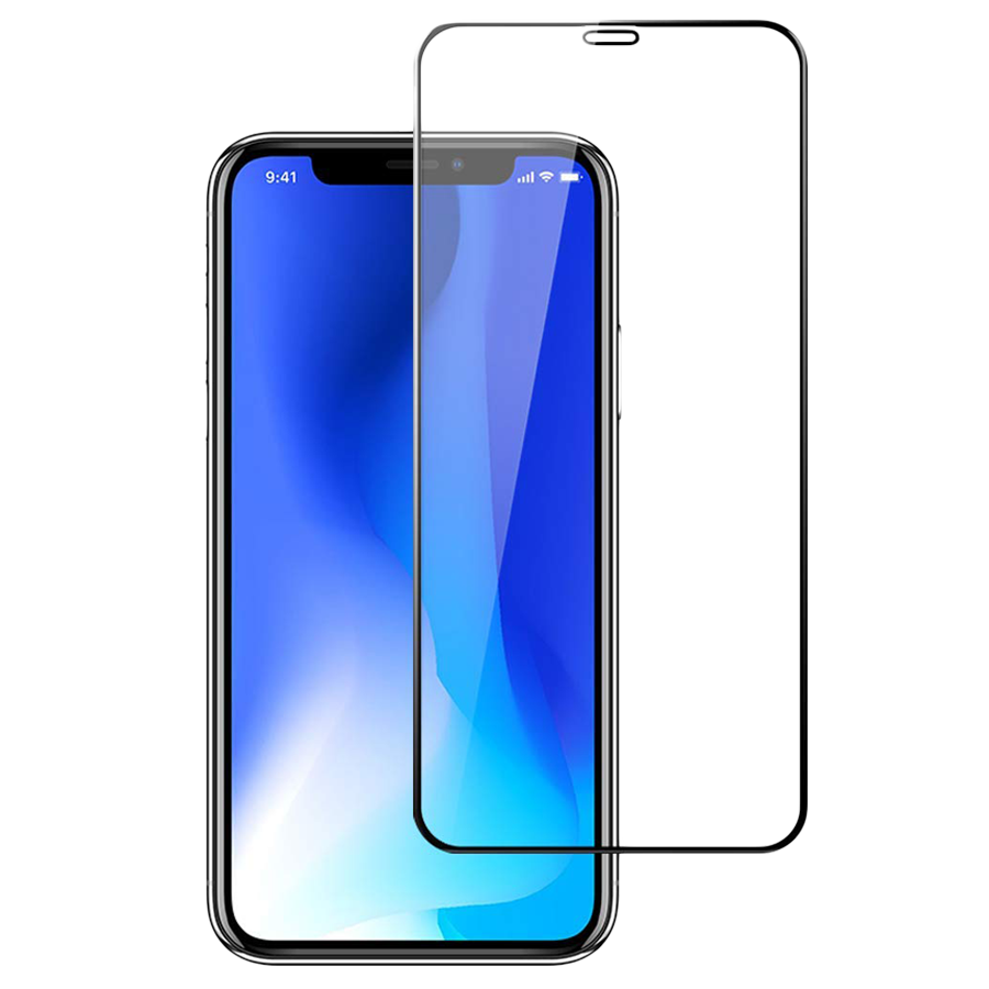Stuffcool Mighty 2.5D Tempered Glass Screen Protector for Apple iPhone XS Max/11 Max (MGGP25DIP65, Black)_1