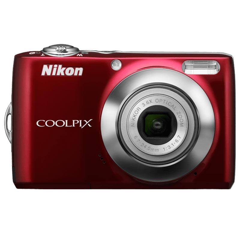Nikon Coolpix 12 MP Point & Shoot Camera (L22, Red)_1