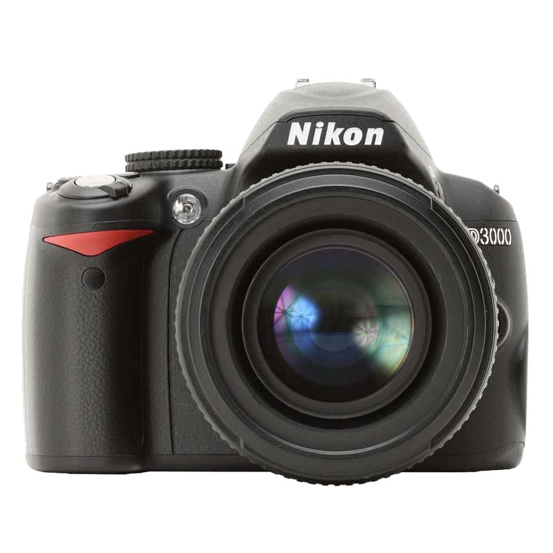 Nikon 10.2 MP DSLR Camera Body with 18 - 55 mm Lens (D3000, Black)_1