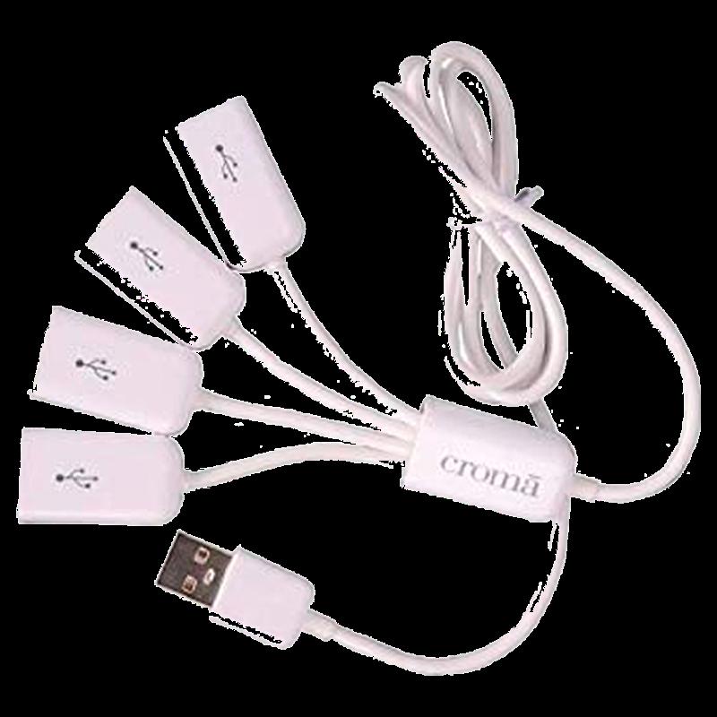Croma 4 Port USB Hub (CRXN4071, White)_1