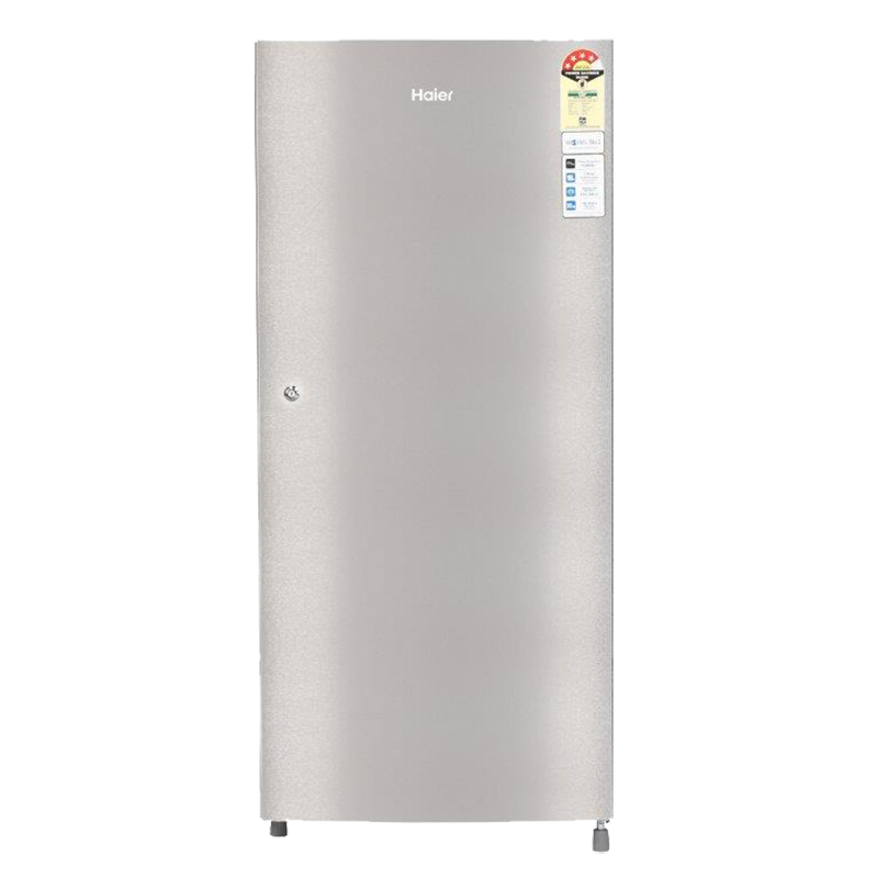 Haier 195 Litres 4 Star Direct Cool Single Door Refrigerator (One Hour Icing Technology, HRD-1954CTS-E, Silver)_1