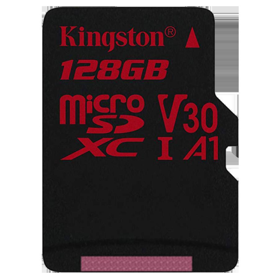 Kingston Canvas React 128GB Class 10 Micro SD Memory Card (SDCR/128GBIN, Black)_1