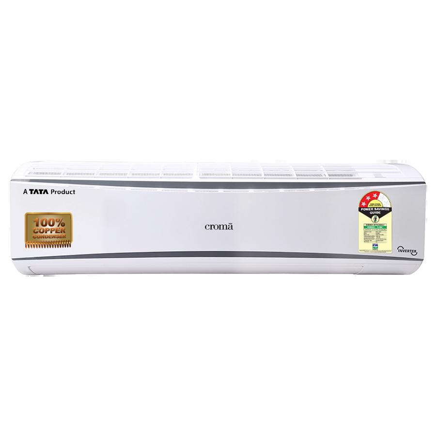Croma 1 Ton 3 Star Inverter Split AC (Copper Condenser, CRAC7701, White/Cool Grey)_1