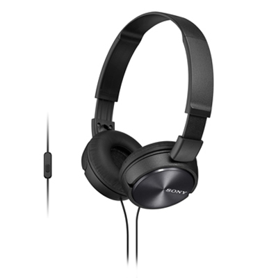 Sony MDR-ZX310AP Wired Headset with Mic(White, On the Ear)