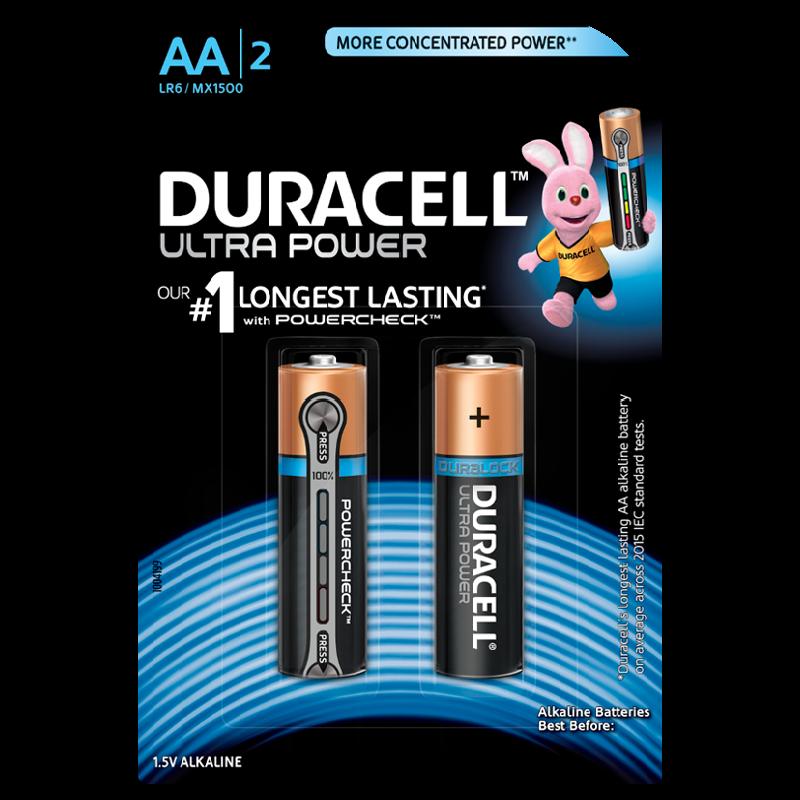 Duracell Ultra Power AA Alkaline Battery (Black)_1