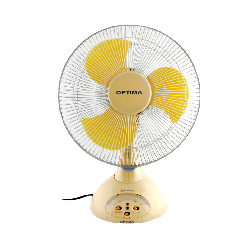 Optima FN50 3 Blades Recharge Table Fan (AF0019, Yellow)_1