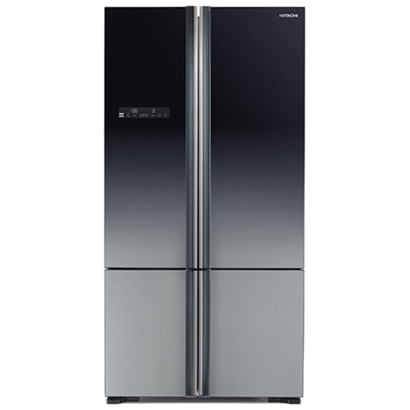 Hitachi 700 Litres Frost Free Inverter French Door Refrigerator (Aero-Care Veggie Compartment, R-WB800PND5-(XGR), Gradation Grey)_1