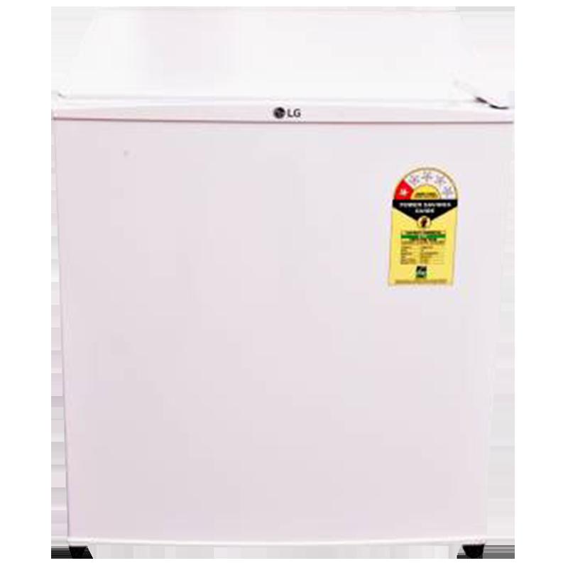 LG 45 Litres 1 Star Direct Cool Single Door Refrigerator (Large Door Basket, GL-051SSW.ESWQPST, White)_1
