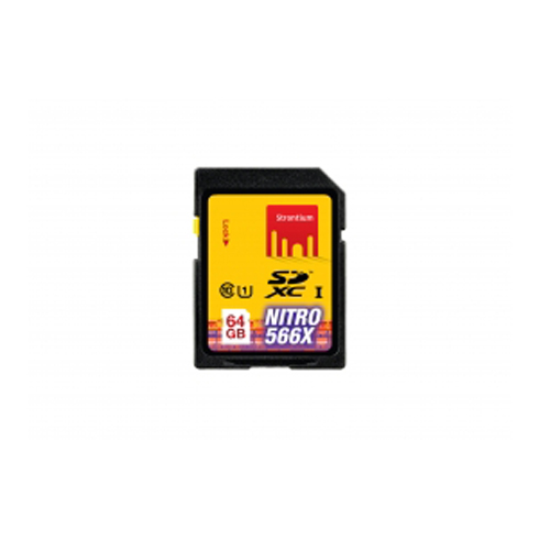 Strontium Nitro 64GB Class 10 SDXC UHS-1 Memory Card (SRN64GSDU1, Black)_1