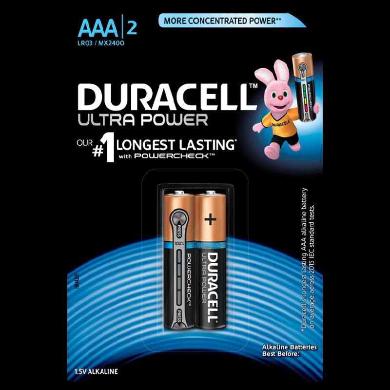 Duracell Ultra Power AAA Alkaline Battery (Black)_1