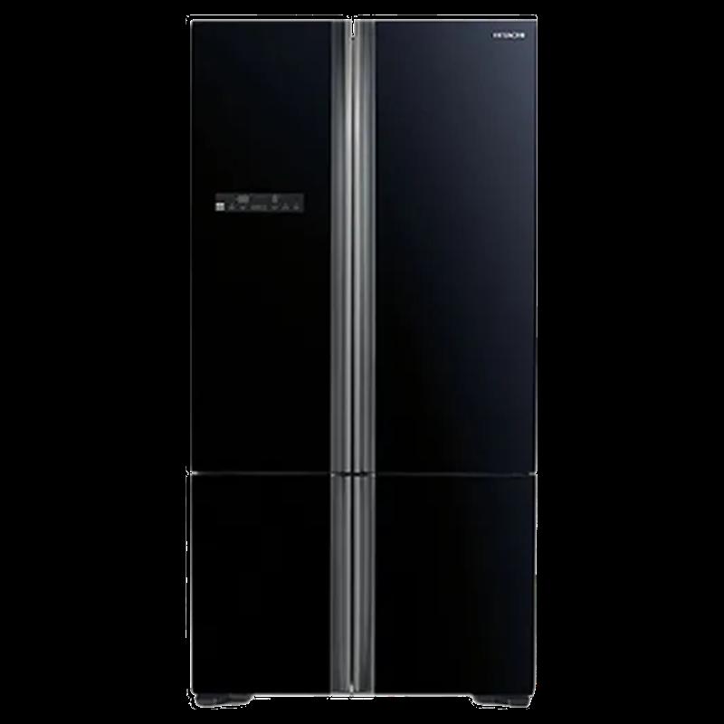 Hitachi 650 Litres Frost Free Inverter French Door Refrigerator (Aero-Care Veggie Compartment, R-WB730PND5-(GBK), Black)_1