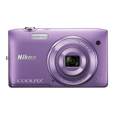 Nikon Coolpix 20.1 MP Point & Shoot Camera (S3500, Purple)_1